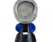 3 Watt LED Landscape Spot Light: Front View of Silver