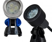 3 Watt LED Landscape Spot Light: Available in Silver & Black Finish