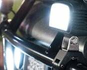 """LED Golf Cart Light - 4"""" Mini Aux - 20W: Shown Mounted On Brush Guard (Mounting Brackets Sold Separately)."""