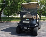 "12"" Off Road LED Light Bar - 36W: Shown Installed On Golf Cart."