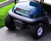 "7"" Slim Off Road LED Light Bars - 18W - 1,650 Lumens: Installed on Golf Cart"