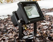 High Power 10W RGB LED Flood Light Fixture with Remote: Used With Ground Mounting Stake (MS-160)