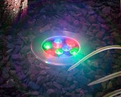 LED In Ground Well Light - 9 x 1W High Power RGB LEDs