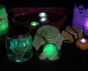 Submersible RGB LED Tea Lights - LED Candle Lights - Floralytes - Halloween Projects