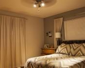 GU10 LED Bulb - 55W Equivalent - Dimmable Bi Pin Bulb: Shown In Ceiling Fan In Warm White.