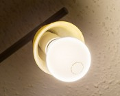 GU10 Base to E27 Base Socket Adapter: Installed in Ceiling Light Fixture with LED Waterproof Bulb