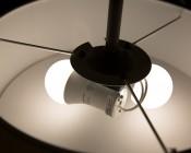 GU24 LED Bulb - 90 Watt Equivalent - Dimmable A19 Bulb - 900 Lumens: Installed In Light Fixture