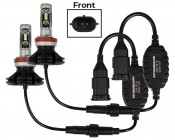 LED Headlight Kit - H11 LED Fanless Headlight Conversion Kit with Adjustable Color Temperature and Compact Heat Sink: Profile View
