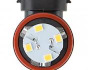 H11 LED Bulb - 28 SMD LED Daytime Running Light - LED Tower: Front View