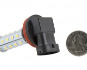 H8 LED Bulb - 28 SMD LED Daytime Running Light - LED Tower: Back View