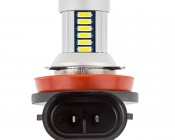 Can Bus H11 LED Bulb - 30 SMD LED Daytime Running Light - LED Tower: Profile View Showing Plug