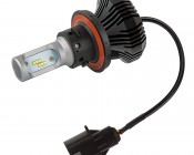 Motorcycle LED Headlight Conversion Kit - H13 LED Fanless Headlight Conversion Kit with Compact Heat Sink