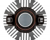 LED Headlight Kit - H16 LED Fanless Headlight Conversion Kit with Compact Heat Sink: Top View