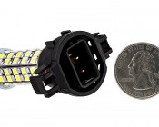 H16 LED Bulb - 68 LED Daytime Running Light: Back View With Size Comparison