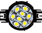 H16 LED Bulb - 68 LED Daytime Running Light : Front View