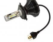 Motorcycle LED Headlight Conversion Kit - H4 LED Fanless Headlight Conversion Kit with Compact Heat Sink