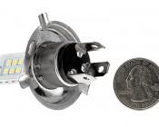 H4 LED Bulb - 12 SMD LED Daytime Running Light: Quarter Comparison