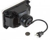 Rectangular H4656 LED Projector Headlights - LED Headlights Conversion: Back View with Size Comparison