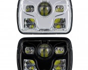 Rectangular H6054 LED Projector Headlights - DOT Approved LED Headlights Conversion: Front View