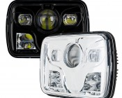 Rectangular H6054 LED Projector Headlights - DOT Approved LED Headlights Conversion
