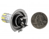 H7 LED Bulb - 36 High Power LED Daytime Running Light: Back View With Size Comparison