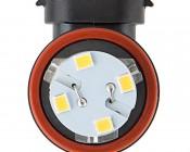 H9 LED Bulb - 28 SMD LED Daytime Running Light - LED Tower: Front View