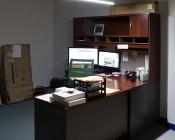 O-Shaped Aluminum Profile Housing for LED Strip Lights: Installed Above Desk with Hanging Kit with LED High Density Light Strip