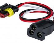 Hard-shell to Straight Female 3-Pin Plug Adapter