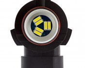 Can Bus HB3 LED Bulb - 30 SMD LED Daytime Running Light - LED Tower: Top View Showing Locking Pins