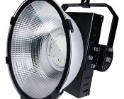 150 Watt High Power LED High Bay Light Fixture: Shown With Mounting Arm In 90 Degree Position