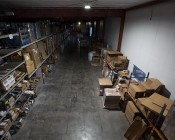 150 Watt UFO LED High Bay Light - 17,000 Lumens: Shown Installed In Warehouse From Approximately 30'.