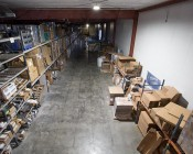 200 Watt UFO LED High Bay Light - 22,000 Lumens: Shown Installed In Warehouse From Approximately 30'.