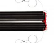 180W Double Linear LED Light Fixture - Industrial LED Light w/ Mounting Brackets - 2.39' Long - 19,500 Lumens: Shown with Hanging Kit