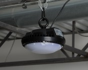 Frosted Diffusing Lens for 60W UFO LED High-Bay Lights - Installed in Warehouse With Lens
