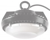 Frosted Diffusing Lens for 60W UFO LED High-Bay Lights