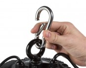 Steel Carabiner for LED High-Bay Lights - Attaching Carabiner to High Bay Light