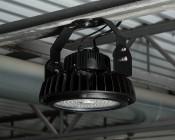 100 Watt UFO LED High Bay Light w/ Optional Reflector - 5000K - 13,000 Lumens: LED UFO High Bay Light Installed With Optional Sensor