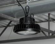 150 Watt UFO LED High Bay Light w/ Optional Reflector - 5000K - 19,500 Lumens: Installed