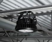 200 Watt UFO LED High Bay Light w/ Optional Reflector - 5000K - 26,000 Lumens: Installed With Optional Bracket