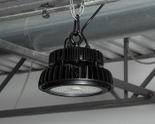 200 Watt UFO LED High Bay Light w/ Optional Reflector - 5000K - 26,000 Lumens: Installed