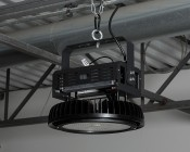 500 Watt UFO LED High Bay Light w/ Optional Reflector - 5000K - 60,000 Lumens - Installed in Warehouse
