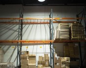 500 Watt UFO LED High Bay Light w/ Optional Reflector - 5000K - 60,000 Lumens - Installed in Warehouse with 120 Degree Lens and Optional Reflector