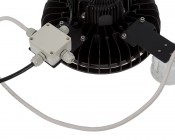 Microwave Motion Sensor for HBUD UFO LED High-Bay Lights - Shown Attached to Light