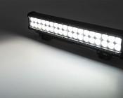 "17"" Heavy Duty Off Road LED Light Bar - 108W: On Showing Beam Pattern."