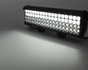 """17"""" Heavy Duty Off Road LED Light Bar with Multi Beam Technology - 216W: On Showing Beam Pattern."""