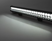 "23"" Heavy Duty Off Road LED Light Bar with Multi Beam Technology - 144W: On Showing Beam Pattern."