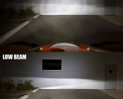 LED Headlight Kit - 9005 LED Fanless Headlight Conversion Kit with Adjustable Color Temperature and Compact Heat Sink: High Beam & Low Beam Shown 10 ft From Wall On Can-am.