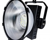 High Bay LED Warehouse Lighting Luminaire 200 Watt: Shown With Mounting Arm In 90 Degree Position