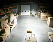 LED Area Light - 300W (850W HID Equivalent) - 5300K - 34,170 Lumens: Installed in Warehouse