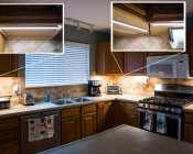 LED Light Strip - High CRI - 16.4ft (5m) High Density LED Tape Light with 81 SMDs/ft. - 1 Chip SMD LED 2016 with LC2 Connector: Installed with Aluminum Profiles in Kitchen